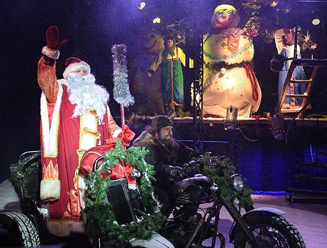 Новогодний праздник в Московском байк-центре