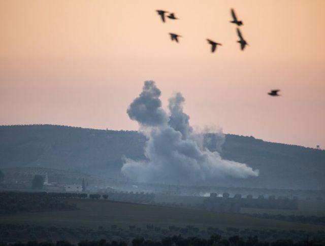 Авиаудары ВВС Турции по территории Сирии