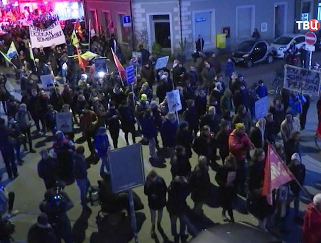 Протесты в Давосе