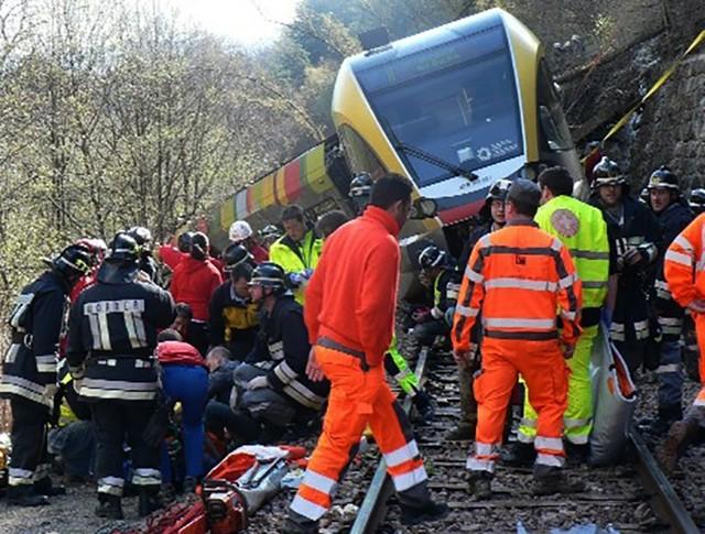 Авария поезда в Италии