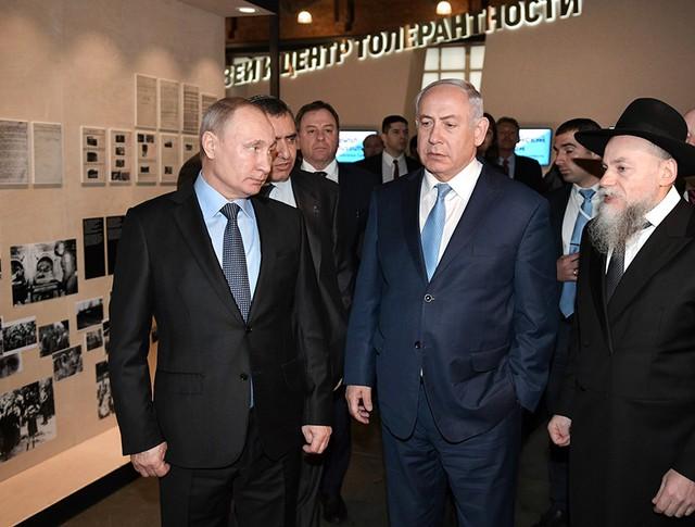 Владимир Путин и Биньямин Нетаньяху посетили центр толерантности в Москве