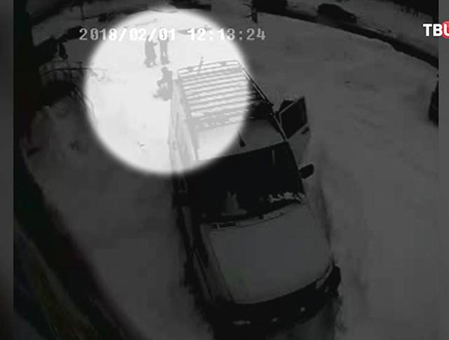 Кадр камеры видеонаблюдения