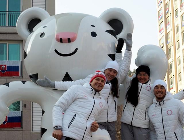 Российские спортсмены в олимпийской деревне