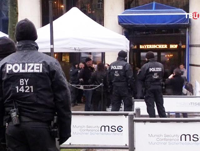 Полиция Германии во время конференции по безопасности в Мюнхене