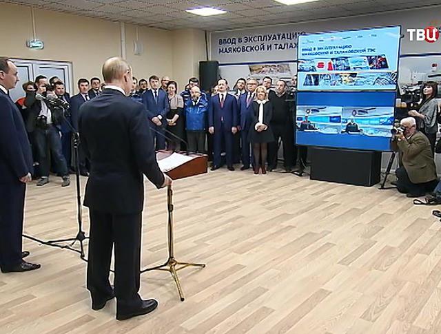 Владимир Путин дал старт работе двух ТЭС в Калининградской области