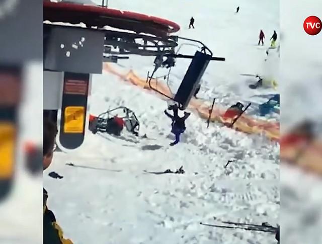 Аварии на канатной дороге в Грузии