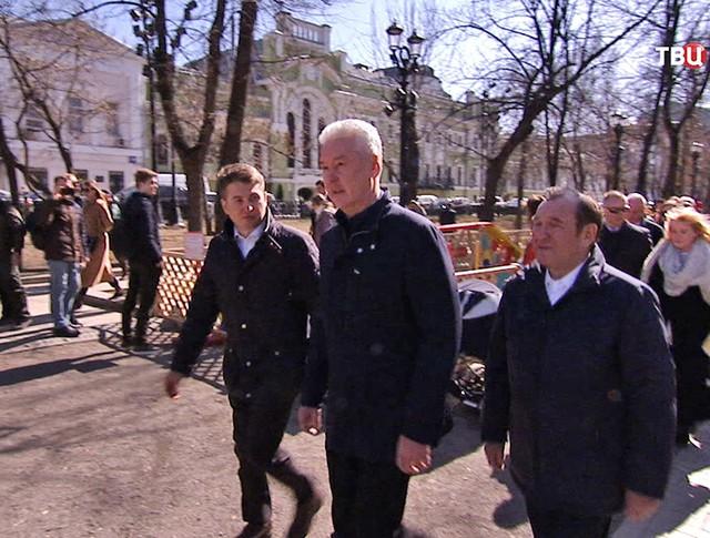"""Сергей Собянин посетил площадку """"Четвероногий друг"""""""
