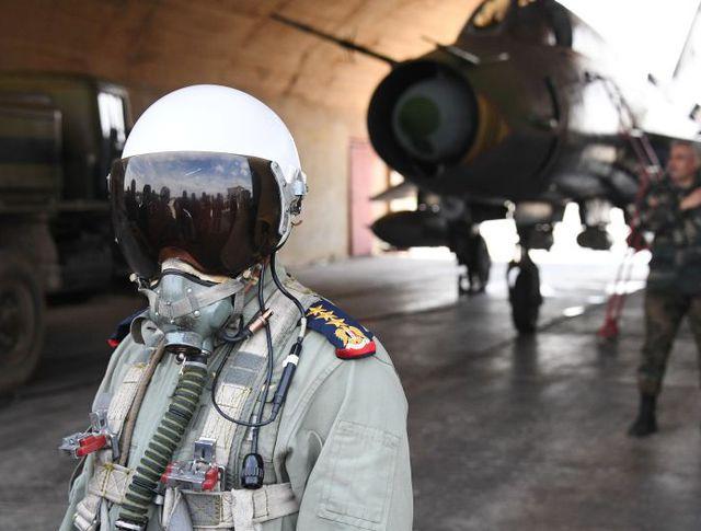 Сирийский пилот на базе Шайрат