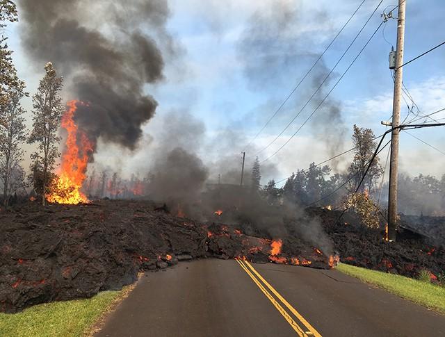 Извержение вулкана Килау-Эа на Гавайях