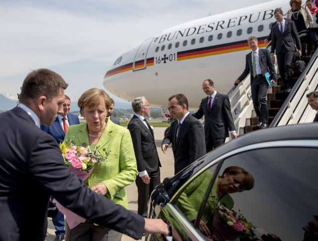 Ангела Меркель в аэропорту Сочи