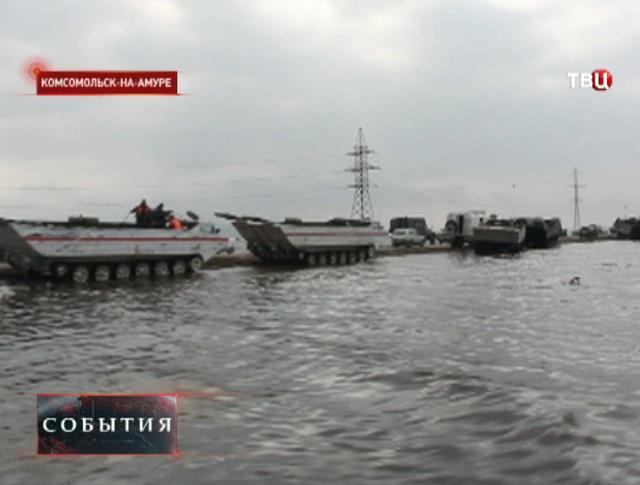 Уровень воды в Комсомольске-на-Амуре снизился до 904 см