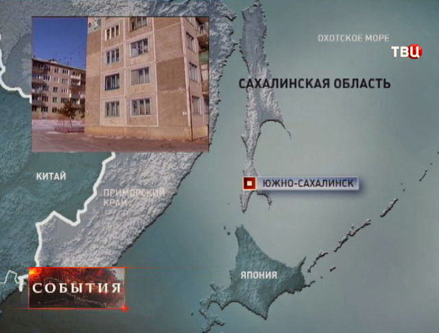 Сахалинская область на карте