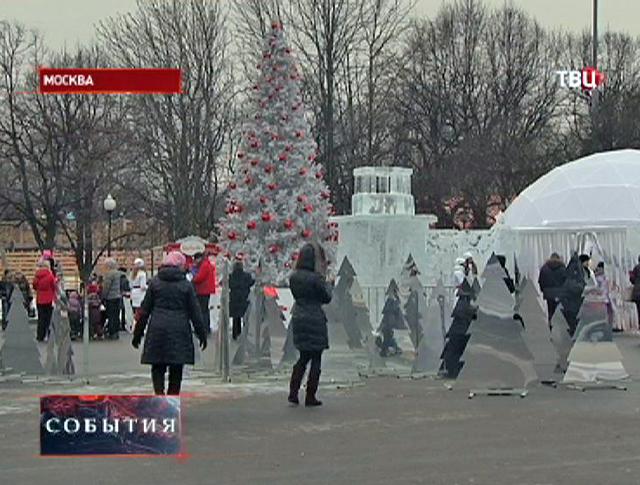 Новогодние гуляния в парке Горького