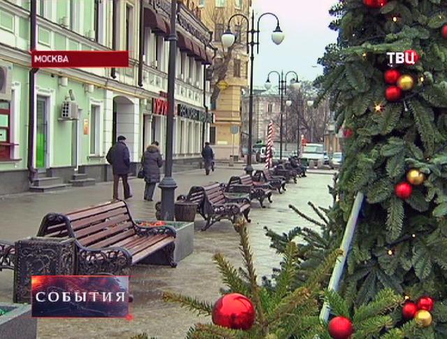 Новогодняя оттепель в Москве
