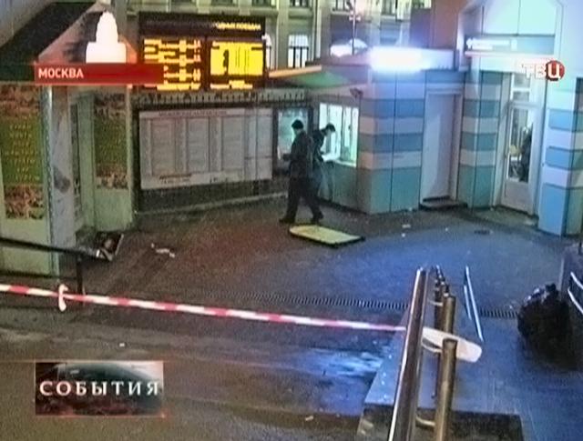 Место перестрелки в Москве