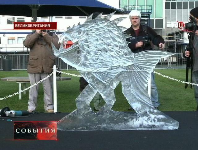 Лондонский фестиваль ледовых скульптур