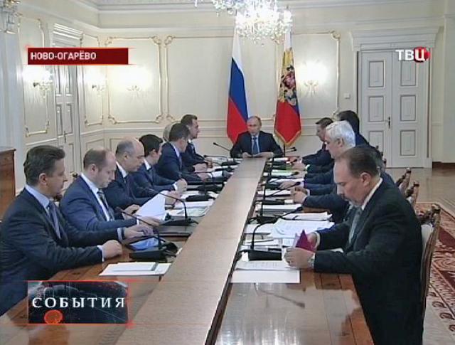 Владимир Путин на встрече с министрами правительства