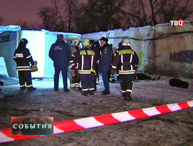 Пожарные на месте происшествия