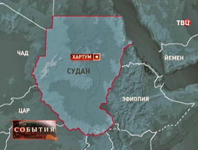 Карта Судана