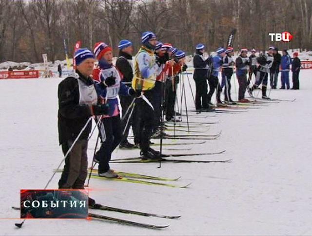 Лыжники на старте