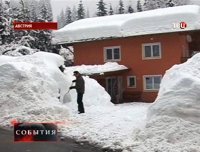 Сильнейший снегопад в Австрии