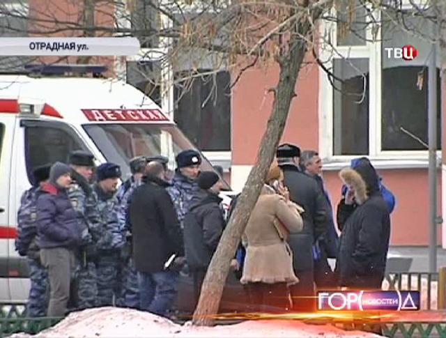 Полиция на месте захвата школы в Отрадном