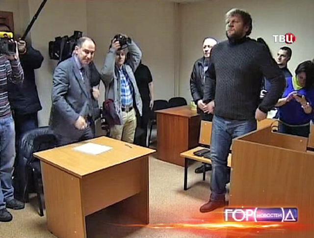 Александр Емельяненко в зале суда