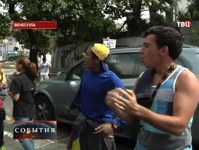 Массовые столкновения в Венесуэле