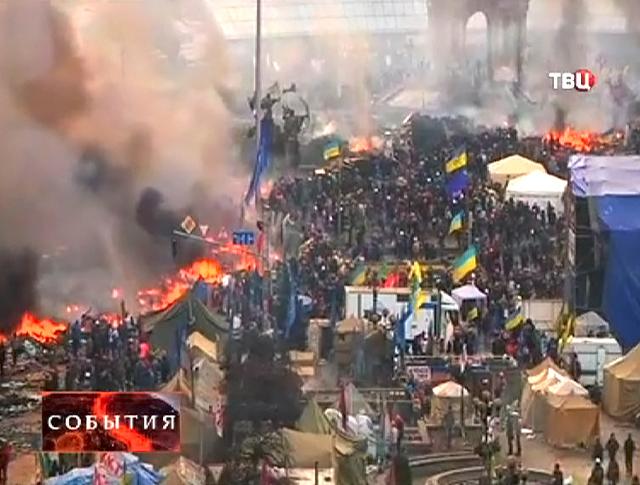Уличные протесты в Киеве