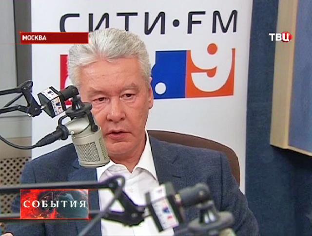 Сергей Собянин дает интервью