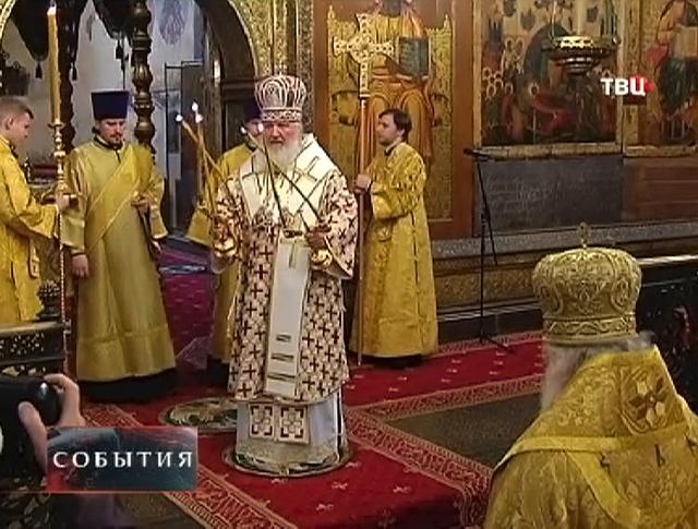 Патриарх Московский и всея Руси Кирилл в честь праздника совершил литургию