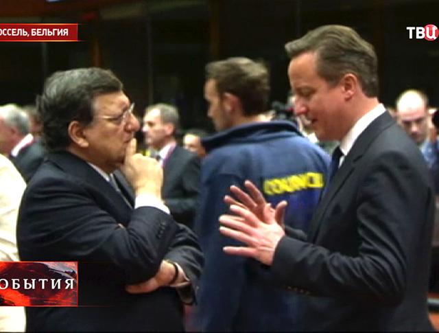 Глава Европейской комиссии Жозе Мануэл Баррозу и премьер-министр Великобритании Дэвид Кэмерон