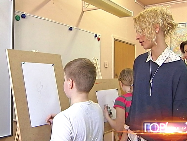 Урок рисования в школе