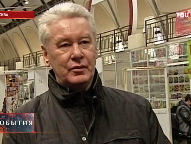 Сергей Собянин в одном из павильонов ВВЦ