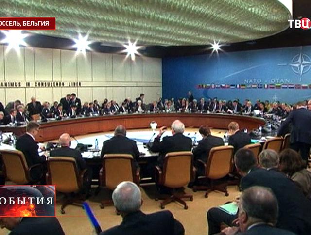 Заседание в штаб-квартире НАТО в Брюсселе