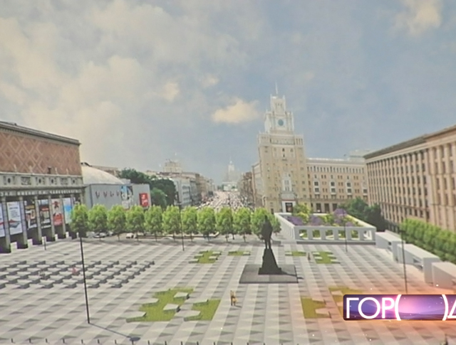 Визуализация будущей Триумфальной площади