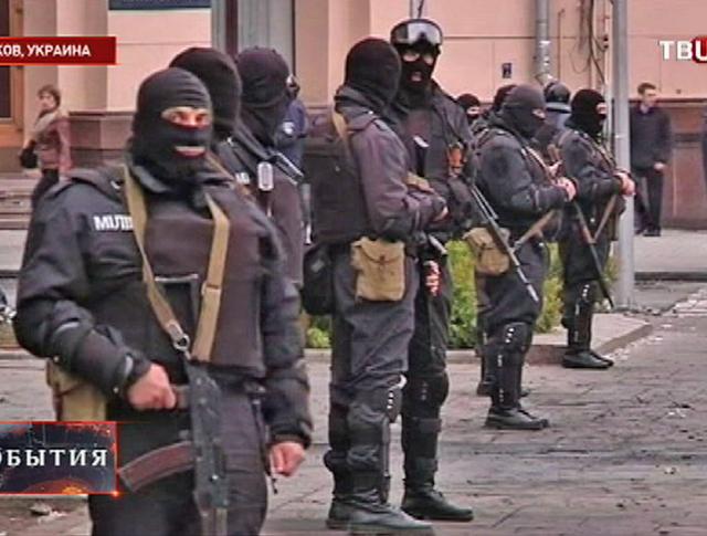 Милицейский кордон в Харькове