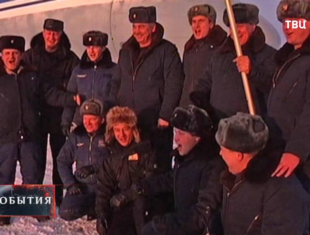 Российские десантники на Северном полюсе