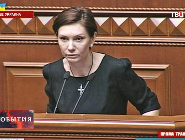 Представительница Партии регионов Елена Бондаренко