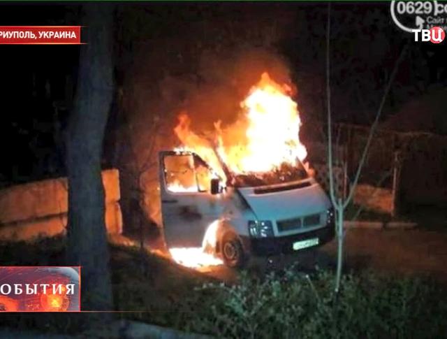 Последствия штурма воинской части в Мариуполе