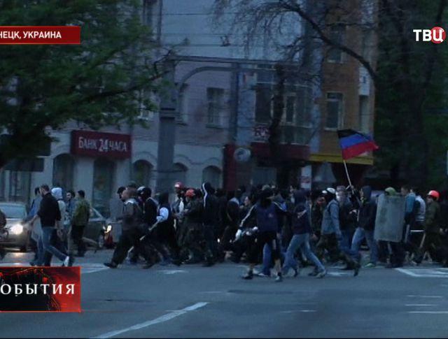 Семеро человек, задержанных ополченцами в Донецке, освобождены