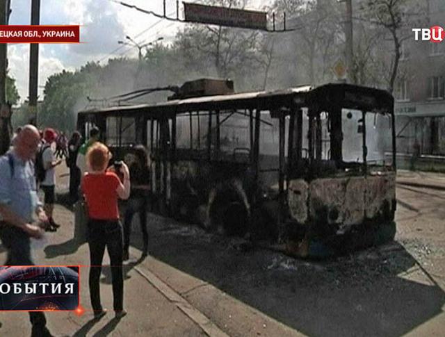Место перестрелки в Донецкой области