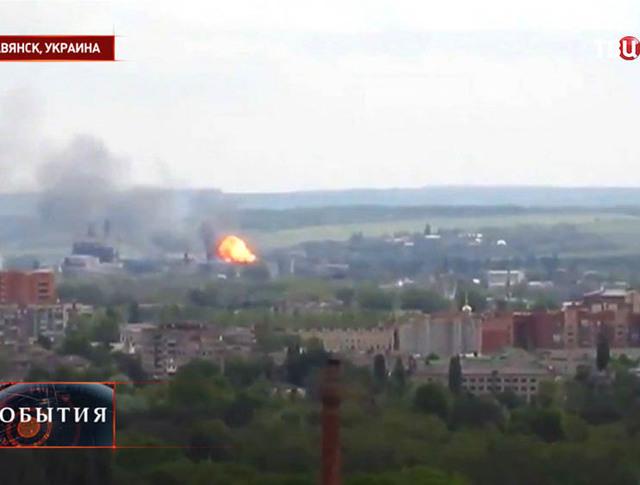 Боевые столкновения в Славянске