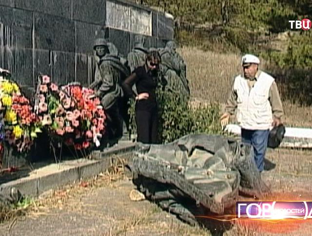 Памятник воинам Великой Отечественной войны подвергся вандализму
