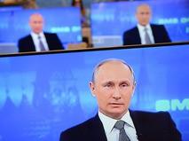 """Владимир Путин во время """"Прямой линии"""""""