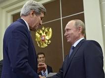 Переговоры Владимира Путина и Джона Керри в Сочи