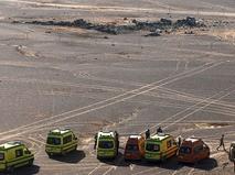 Место крушения российского самолёта Airbus A321 в Египте