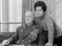 Георгий Жуков с супругой