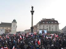 """Участники акций в Варшаве """"против исламизации Европы"""""""