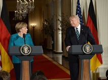 Канцлер Германии Ангела Меркель и президент США Дональд Трамп